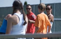 Chris and Angela coaching